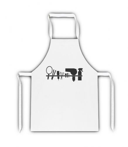 Hairdressing Supplies White Adult Apron